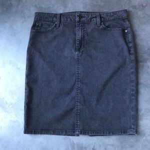 Joe's Jeans Charcoal Grey Denim Pencil Skirt